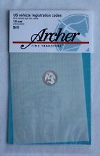 Archer 1/35 US Very Early Railroad Style Registration Codes (White) AR35025W