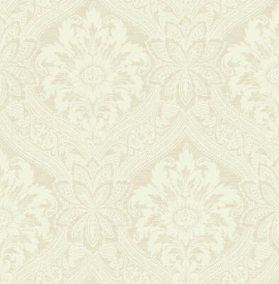 Floral Wallpaper Damask Cream Nude Vintage Victorian Luxury Samples Available