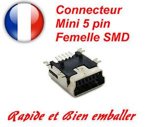 Mini Usb 5 Pin Female Connector Buchse Charger Smt Smd Jack Smartphone Navi Gps N4soebuq-07165849-919269788
