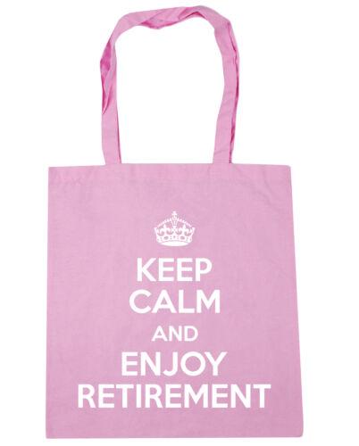 Keep Calm and Enjoy Retirement Tote Shopping Gym Beach Bag 42cm x38cm 10 litres