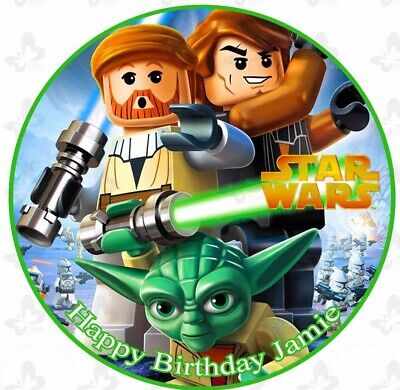 Prime Lego Star Wars Cake Image Edible Icing Birthday Personalised Funny Birthday Cards Online Overcheapnameinfo