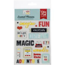 Echo Park Wish Upon A Star ~ ENAMEL DOTS Adhesive Embellishments Paper Crafting