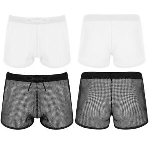 Mens 2-Pack Boxer Briefs Polyester Underwear Trunk Underwear with Tropical Birds and Toucan Design