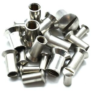 M4-M5-M6-amp-M8-A2-STAINLESS-STEEL-SLOT-RAISED-COUNTERSUNK-THREADED-SLEEVE-NUTS