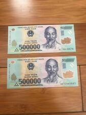 Vietnamese Currency 5x500,000=2.5 million dong Bank Notes brand new issue 2018