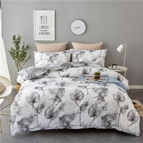 Modern Print Floral Duvet Cover Pillow Case Quilt Bedding Set Twin King Queen