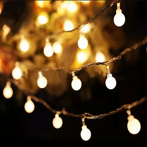 Details About Fairy Battery Operated String Lights Lantern Wedding Xmas Party Outdoor Decor