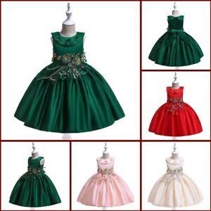 Formal bridesmaid dresses wedding baby party girl princess tutu kid flower dress