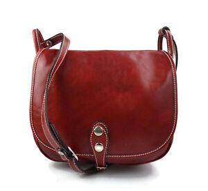 Dettagli su Borsa donna pelle tracolla a spalla rosso vera pelle hobo bag made in Italy