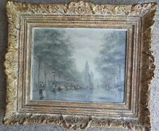 Paris Street Scene Oil on Canvas Andre Gisson Early Work with COA