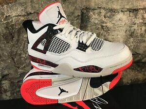 3a0242740a4 AIR JORDAN 4 RETRO 308497-116 Crimson Lava Citron White Blk 2019 ...