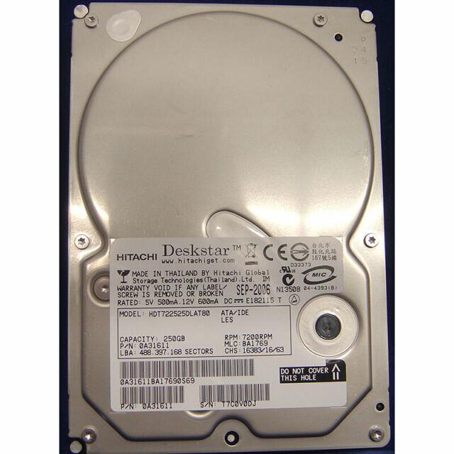 Hitachi 250GB, 7200RPM, IDE - 0A31611