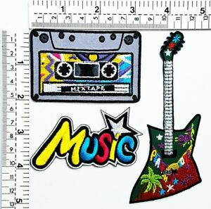 Guitar Peace Logo Butterfly DIY Music Notes Patches T-shirt Sew// Iron on Patch