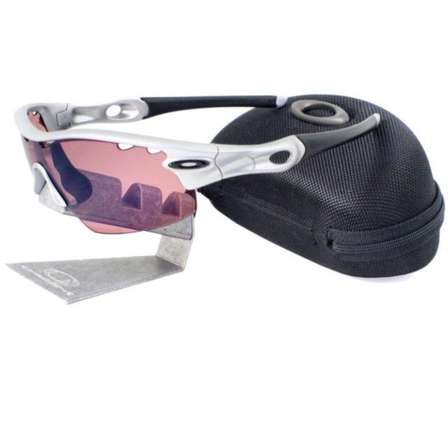 955248a3fb Oakley 09-763 RADAR PITCH VENTED Silver G30 Iridium Mens Sport Sunglasses +  Case