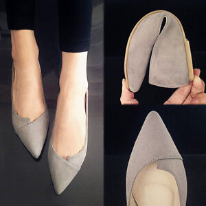 Women-Pointed-Toe-Ballet-Flats-Slip-on-Suede-Shoes-Lady-Stiletto-Fashion-Loafer