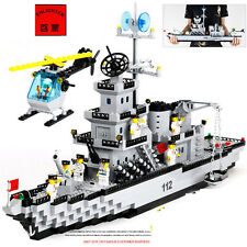 ENLIGHTEN 970pcs CombatsZone Military Missile Cruiser Blocks Minifigures Toys