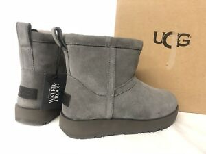 d83fa7d95d76 Image is loading UGG-AUSTRALIA-Classic-MINI-Waterproof-Suede-Boot-Metal-