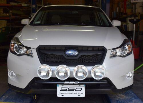 Bull Bar Fits 2014 Subaru  XV Crosstrek RALLY LIGHT BAR 4 Light Mounting Tabs