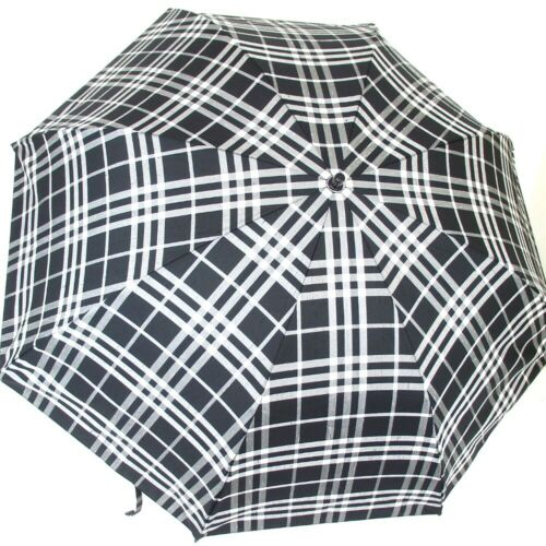 Authentic BURBERRY Check Folding Umbrella Umbrella