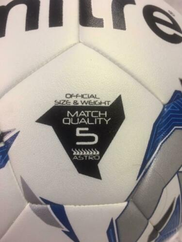 Mitre HyperSeam Match Quality Soccer Ball Size 5 Astro 40-46382155 New