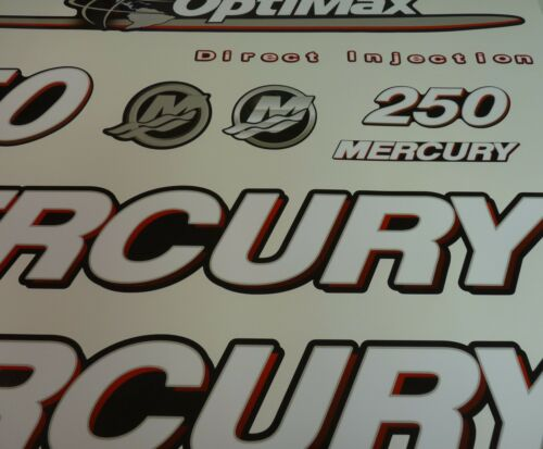 Mercury 250 HP OPTIMAX outboard engine decal sticker kit reproduction 250HP