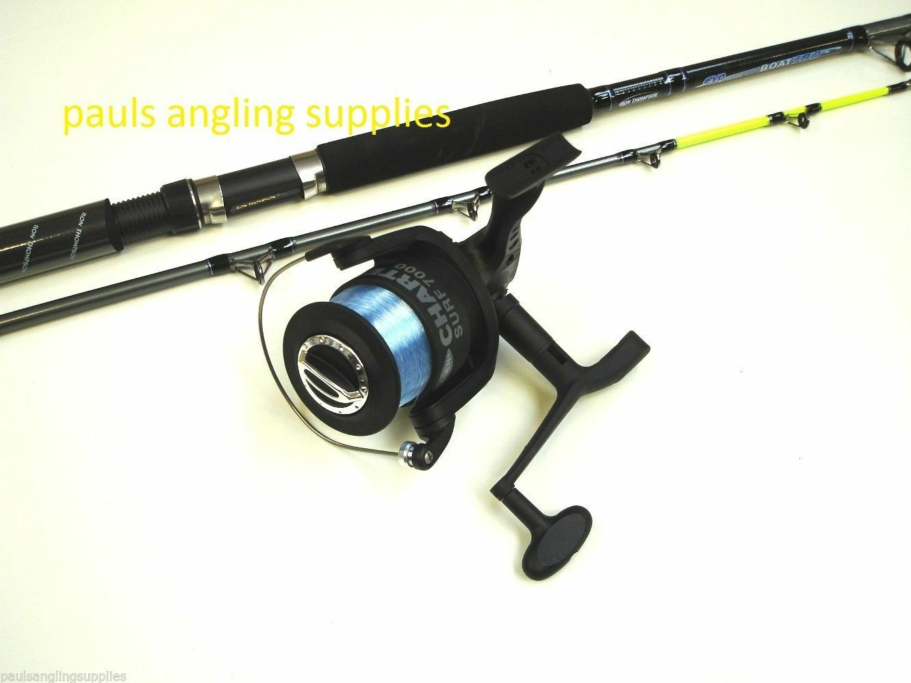 6 ft Boat Fishing Rod & Fladen Charter Reel + Line