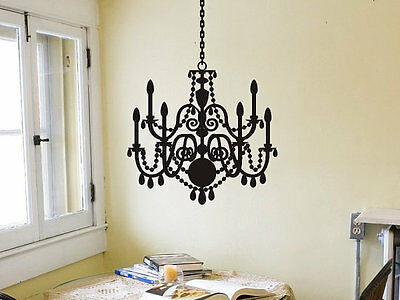 Wide 60cm Removable Chandelier Light Vinyl Wall Paper Decal Art Sticker 917