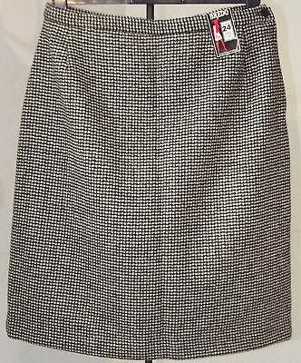 Vintage tweed skirt UNUSED 1970s wool mix BREDO SKIRTS Waist 36 inch