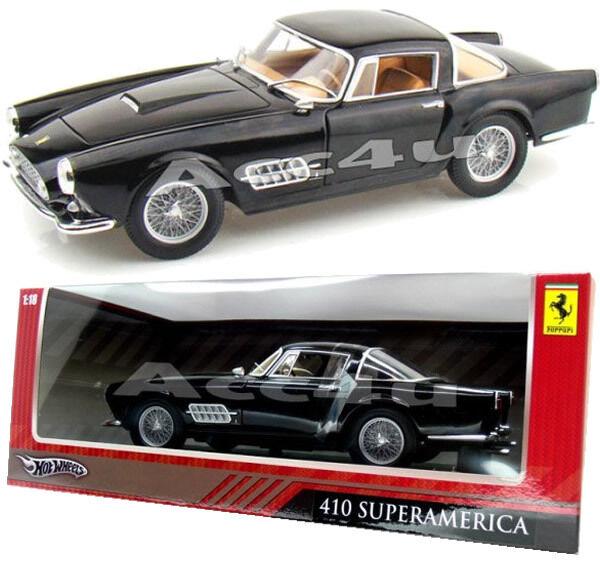 Hotwheels nero Ferrari 410 Superamerica 1 18 Diecast Model Car