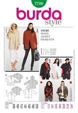 BURDA SEWING PATTERN LADIES Uncomplicated wide jacket  sizes 12 - 24 7700