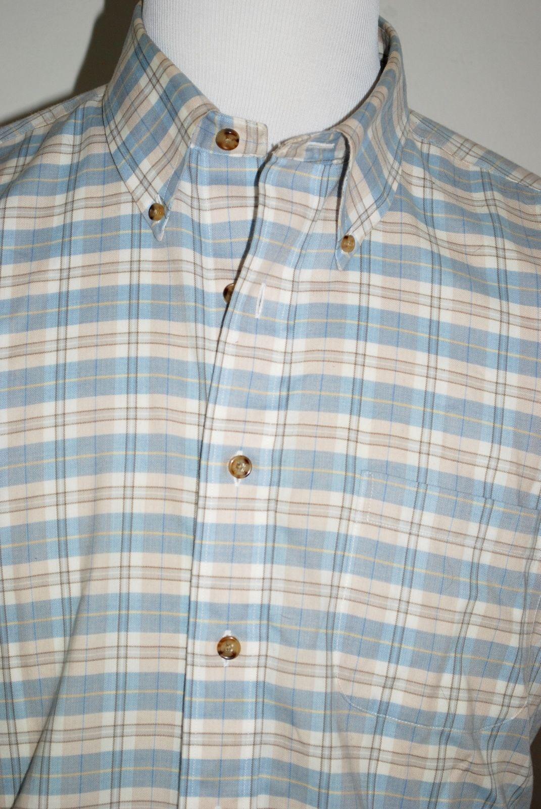 Brooks Brothers Country Club Slim Fit Größe L Plaid Cashmere Button Down Shirt