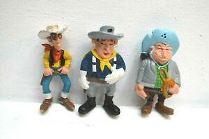 100% Vrai Jouet Lot 3 Figurines Lucky Luke Cavalerie Bd Morris Style Bully Plastoy Papo PréParer L'Ensemble Du SystèMe Et Le Renforcer