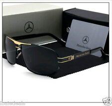 Lunettes de soleil POLARISEES noires NEUVES Benz Mercedes + étui