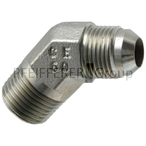 Granito JIC ADAPTADOR Adaptador de ángulo AG-AG wa 3//4 M-JIC x 3//8 M-NPT 45 °