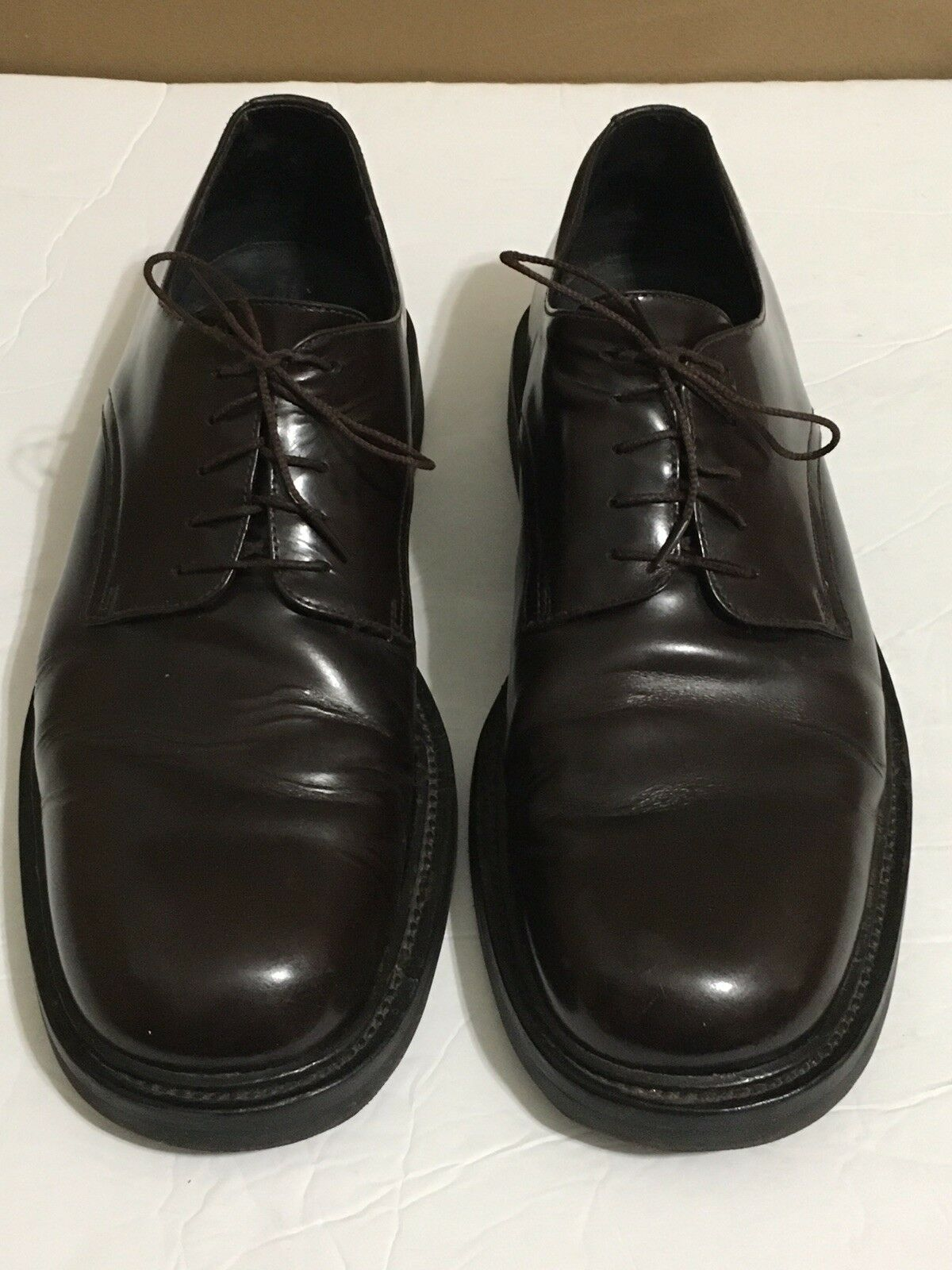 marchi di moda Mens J Crew Italian Leather Marrone Marrone Marrone Dress scarpe Oxfords Sz 10 Vibram Gumlite Sole  il prezzo più basso