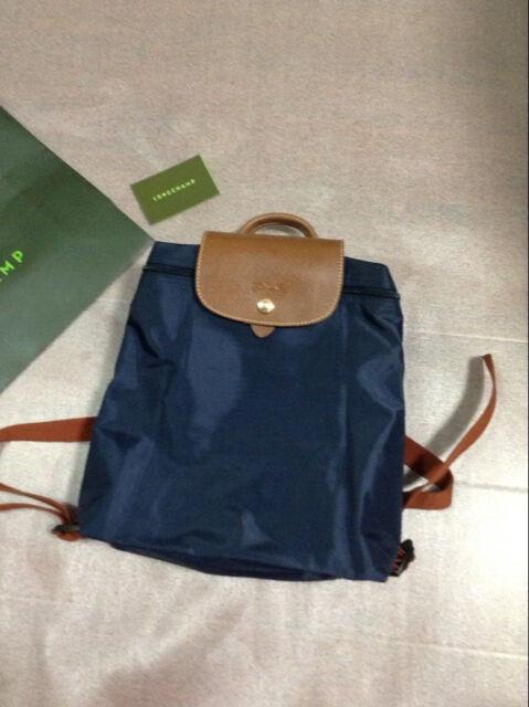 Auth Longchamp Le Pliage Backpack Light Blue 1699089a30 for sale ... bd73d6c43fbe5