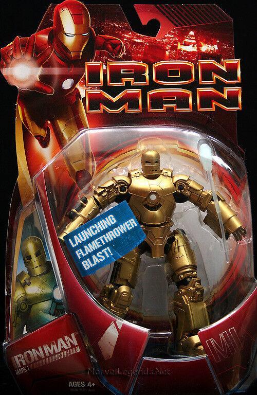 Marvel - film  iron man mann mark - 1  Gold - variante  6.