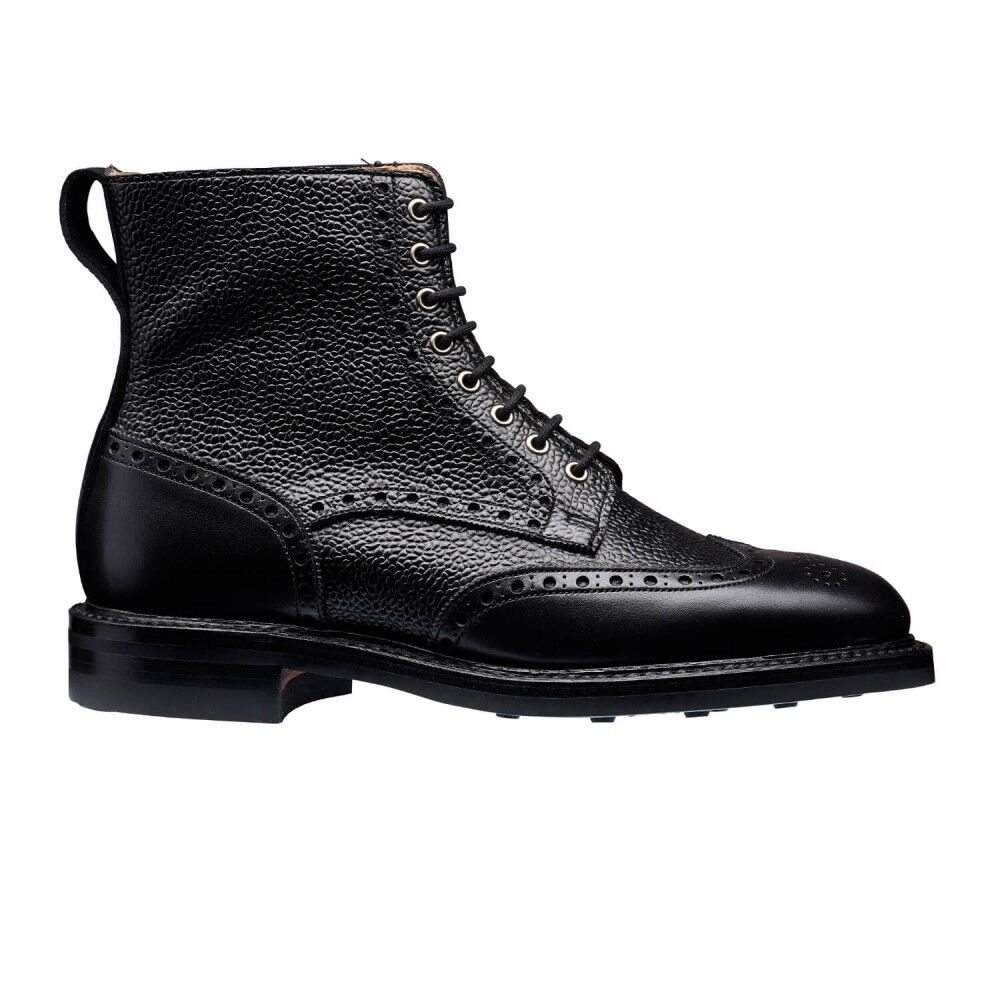 Women's Handmade Bespoke Oxford Brogue Genuine Leather Boots,Formal Marching
