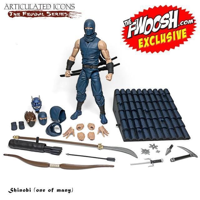 Fwoosh Exclusive Articulated Icons The Feudal Series - Shinobi (one of many)