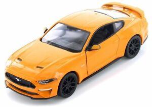 FORD Mustang GT - 2018 - orange - MotorMax 1:24