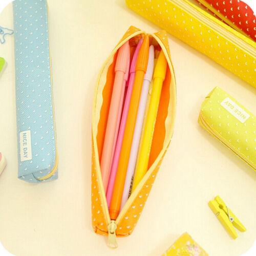 Candy Farbe Federmäppchen Dot Pen Bag Briefpapierbeutel Büro SchulbedarfOXDE