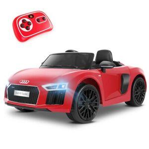 Coche electrico niños AUDI R8 bateria 12V con mando ruedas goma y luces +3 años