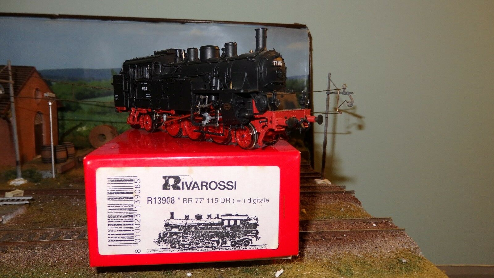 Rivarossi Italia 13908 77 115 DB Negro Marco Rojo, (DCC)