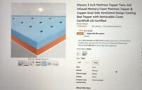 brand new maxzzz matress topper, twin size, free free free