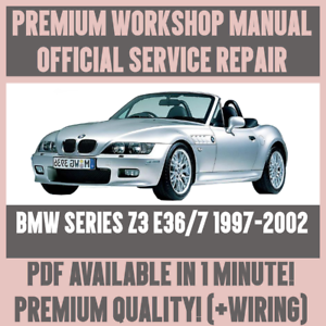 workshop manual service repair guide for bmw z3 e36 7 1997 2002 rh ebay co uk 2000 bmw z3 owners manual online 2003 bmw z4 owner's manual for radio pdf