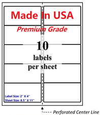 1000 Premium Blank Shipping Labels 2 X 4 Made In Usa Self Adhesive 85 X 11