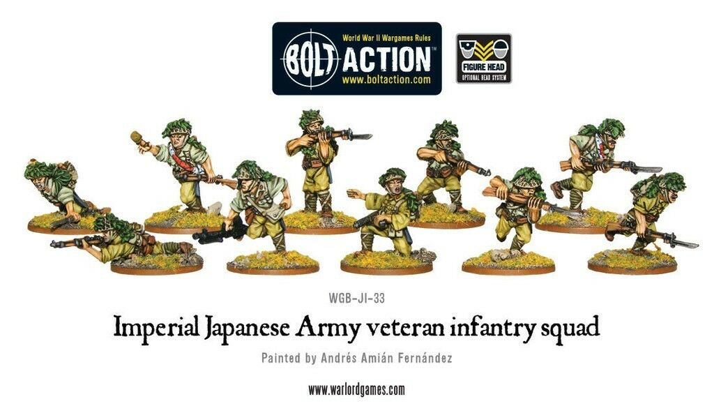 Warlord Games - Bolt Action Action Action - Imperial Japanese Army Veteran Infantry Squad-28mm  nueva marca