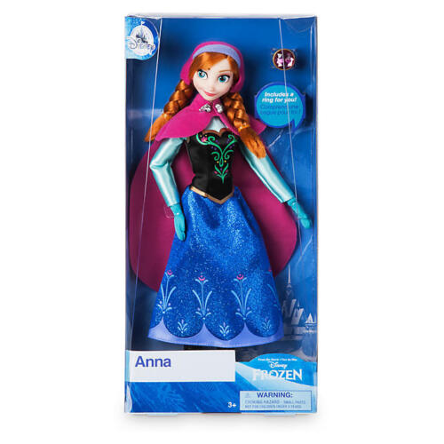 NEW Official Disney Frozen 30cm Anna Classic Doll with Ring