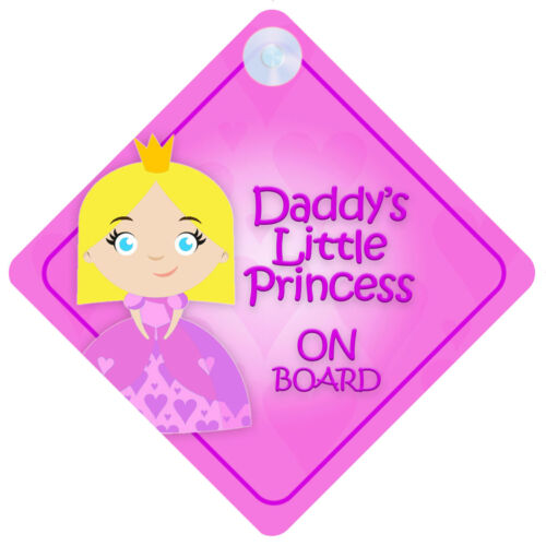 DLP016 Daddy/'s Little Princess On Board Car Sign New Baby//Child Gift//Present