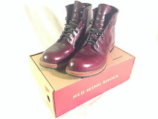 """Red Wing Boots Beckman Round 6"""" 9011 Black Cherry 10 D Redwing - Very Good Cond."""